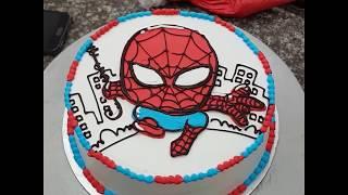 Bánh kem hoạt hình người nhện - Spiderman