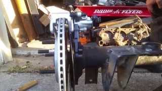 Ford 9 inch rear end rear  disc brake install, gm a body, GTO, camaro, mustang, chevelle pro touring