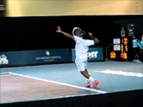 SloMo:  Leander Paes Serve and Volley