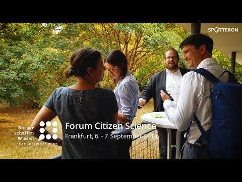 Forum Citizen Science | Frankfurt 2018 | Bürger schaffen Wissen