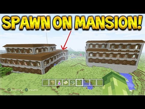 SPAWN ON A MANSION SEED, 2 Spawn Mansions With Stronghold Underneath & Village SEED