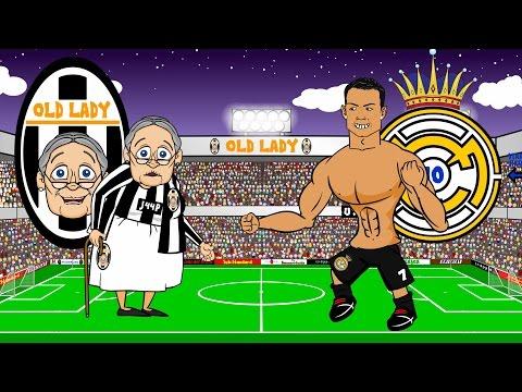 🏆JUVENTUS vs REAL MADRID 2-1🏆 (Parody Champions League Semi-final 2015 Goals Highlights)