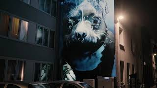 Smates - 'Underwater Dog' - Street Art Projection Mapping