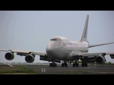 Air France B747-400 Freighter landing to FMEE II