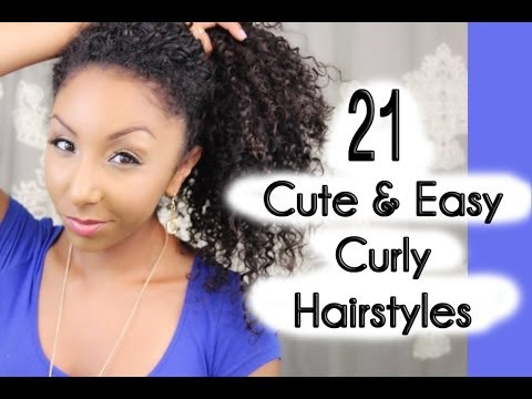 21 Cute and Easy Curly Hairstyles! | BiancaReneeToday