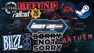 AJS News - Fallout 76 Refunds, BlizzCon Apology & Reveals, EA Rejoins Steam!
