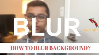 How Blur your background in hitfilm 4 express with text