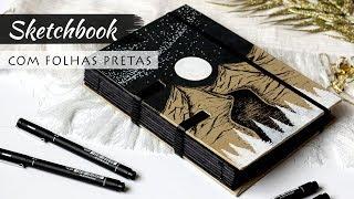 Fiz Um Caderno Com Folhas Pretas 🖤 Caderno Feito à Mão Marina Araújo