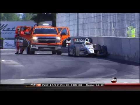 2014 Indycar Detroit Grand Prix (Race 1) - Mike Conway crash