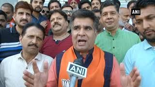 J&K municipal polls: BJP workers celebrate party's lead