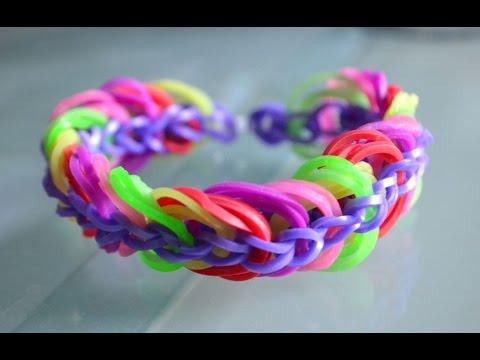 Comment faire un bracelet lastique rainbow loom triple chaine diy youtube - Comment faire bracelet elastique ...