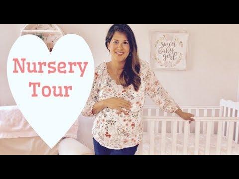 Baby GIrl Nursery Tour | Pottery Barn and Hobby Lobby Decor
