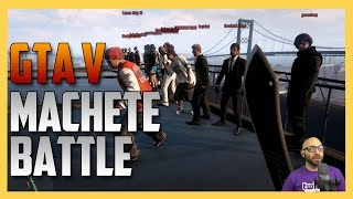 GTA V Machete Battle (New Weapon from Low Rider Update) | Swiftor