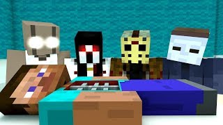 Monster School :  Granny Slenderina Jason Baldi Surgeon Simulator Challenge - Minecraft Animation