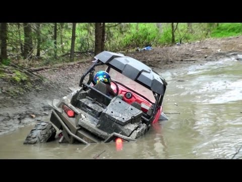 RZR 900 XP SWAMPED in mud hole OUTLAW TRAILS WV