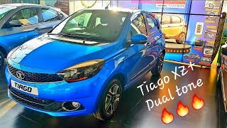 Tata Tiago 2019 XZ plus Ocean blue dual tone detailed review | Features | Projector Headlights