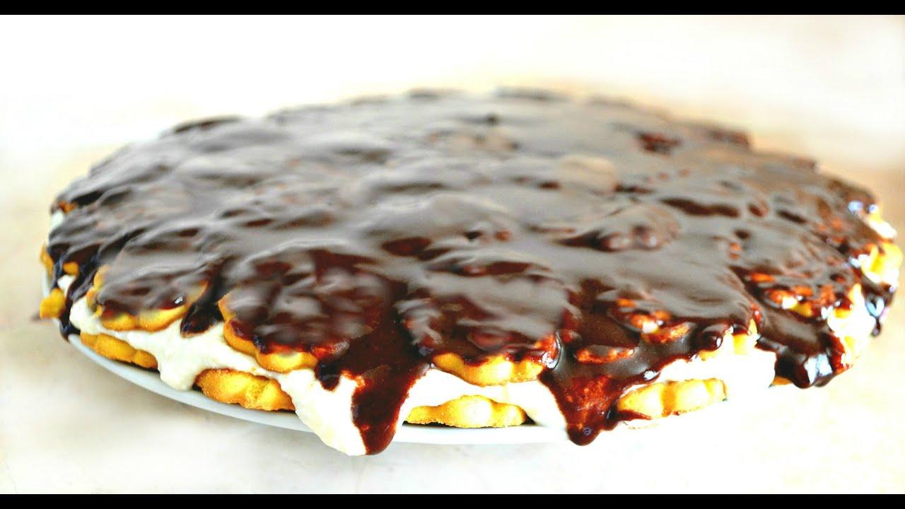 Торт из печенья южная ночь и творога без выпечки рецепт