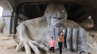 Troll Under The Bridge Seattle - Seattle Travel Destination -Fremont Troll  Ok4kidstv video  205