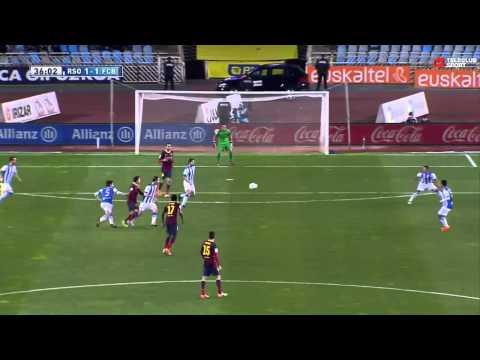 Real Sociedad vs FC Barcelona 3-1 / La Liga / 22.02.2014
