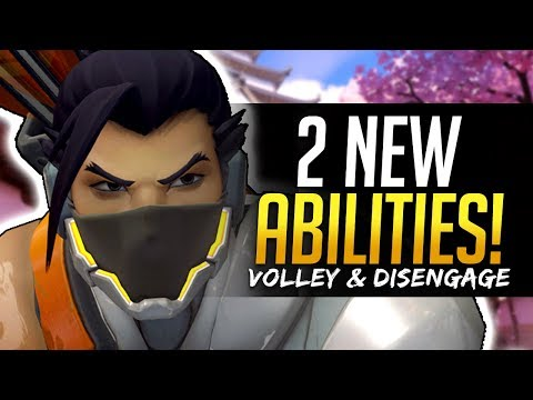 Overwatch HANZO 2 NEW ABILITIES - Volley and Disengage
