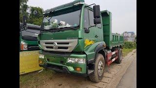 Xe tải ben Howo 2 chân 8 tấn 190hp thùng vuông nhập khẩu