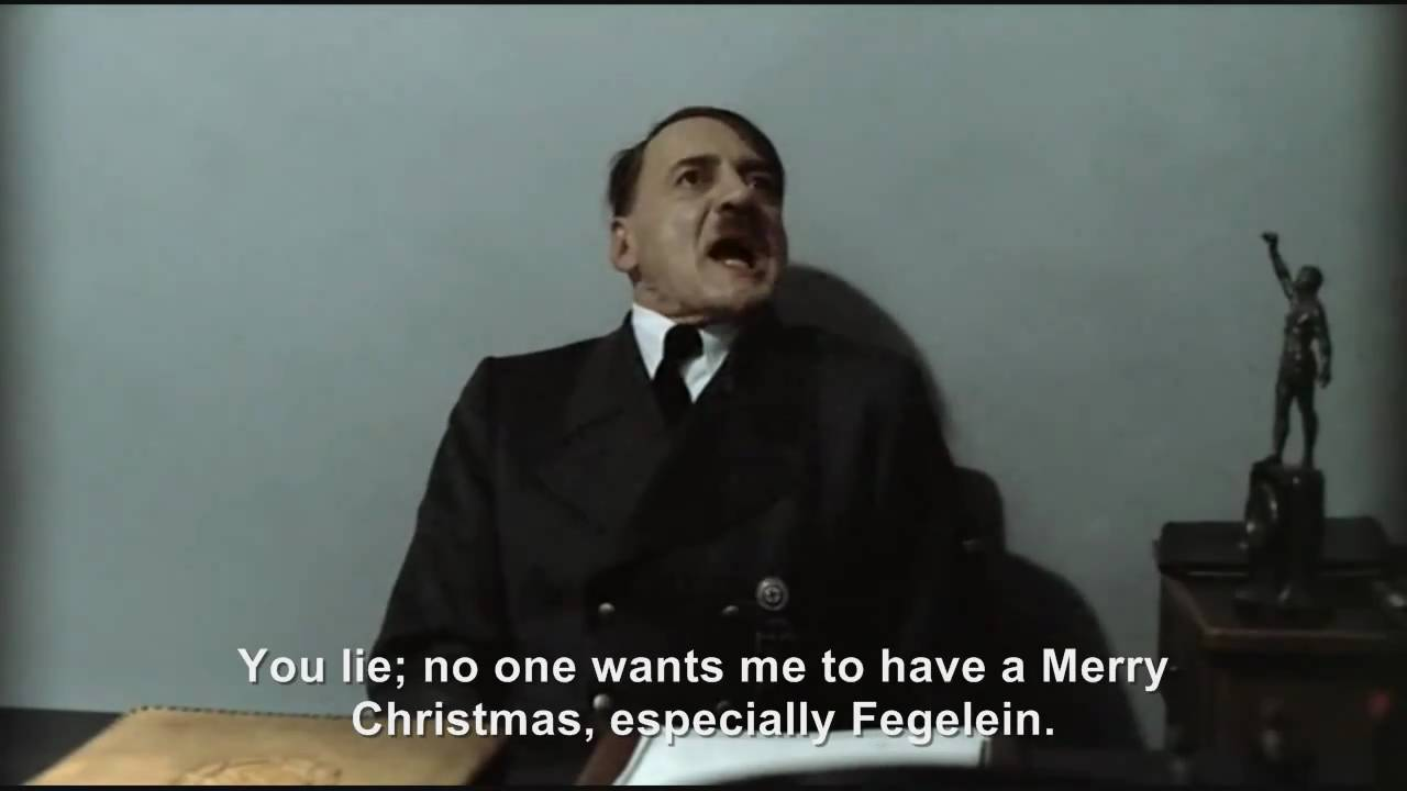 Hitler is informed we wish you a Merry Christmas