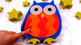 Learn Colors Kinetic Sand Owl - Sing a long Skip to my Lou for Children Song Nursery Rhymes