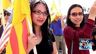 Tiếp tục biểu tình ở Bolsa phản đối dự luật đặc khu và luật an ninh mạng VN