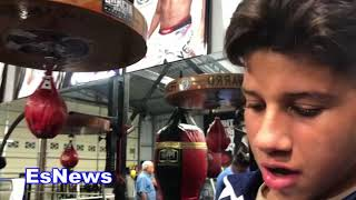 MUST SEE -What Robert Garcia & Mikey Did For A Kid Who Had Worn Out Pair Of Gloves