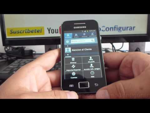 como eliminar todos contactos de tarjeta sim samsung Galaxy ace S5830 español Full HD