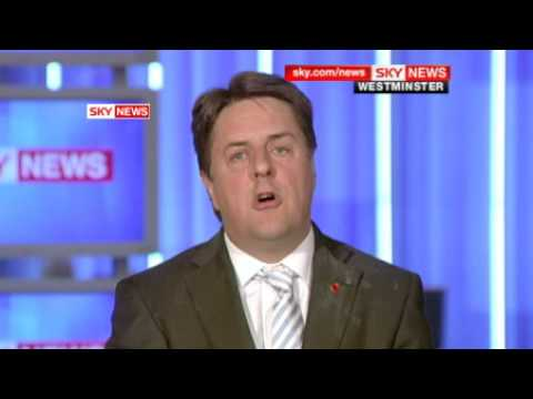 BNP Leader Nick Griffin Pelted with Eggs