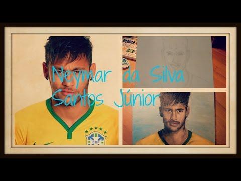 Painting Neymar da Silva Santos Júnior // OIL PAINTING