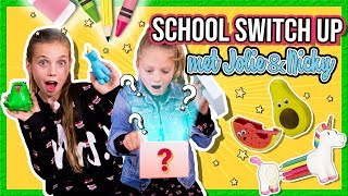 SCHOOL SWITCH UP CHALLENGE met Jolie Bontekoe en BFF Nicky + GIVEAWAY