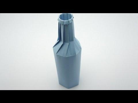 Как сделать из бумаги и бутылки 302
