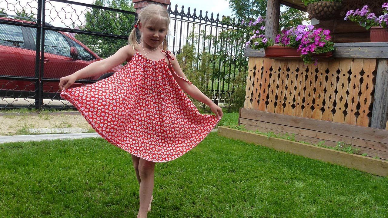 Как сшить детское летнее сарафан 100