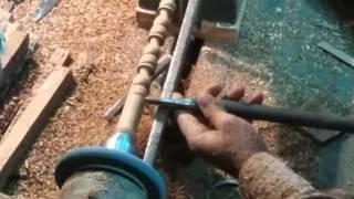 Indian Wooden Handicrafts | Craftsman artistic creation Mumbai India 2016