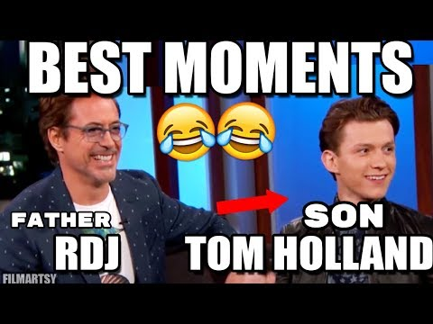 Tom Holland and Robert Downey Jr. Funniest and Best Father/Son Moments | Try Not To Laugh 2018 thumbnail