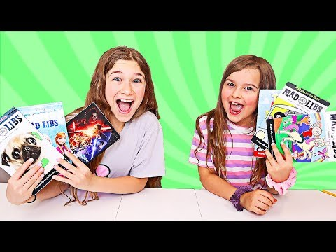The BEST MAD LIBS EVER!! Frozen, Toy Story, Star Wars, Road Trip, Unicorns | JKrew