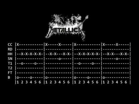 Tabulatura Drums  - Metallica - Nothing Else Matters - By Yendrek