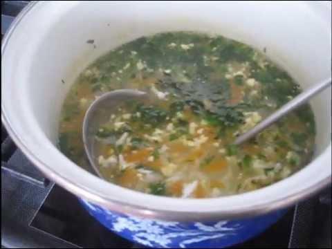 Рисовый суп с яйцом