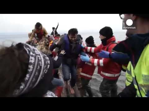 Despite cold weather migrants still risking everything to get to Europe by sea