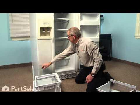 Refrigerator Repair- Replacing the Crisper Drawer Cover and Shelf Frame (Whirlpool Part # 2161491)