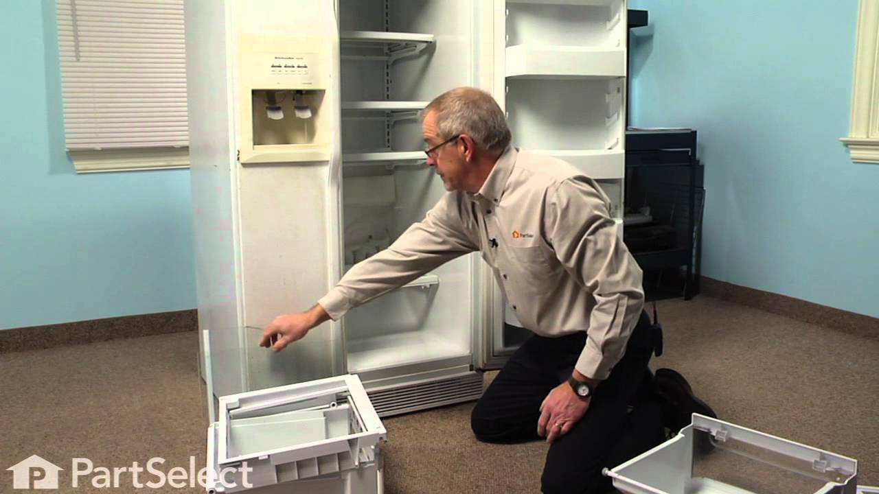 Refrigerator Repair Replacing The Crisper Drawer Cover