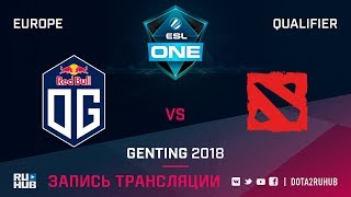 OG vs The Final Tribe, ESL One Genting EU Qualifier, game 1 [Maelstorm, LighTofHeaveN]