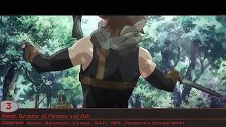 Top 10 Action/RPG anime