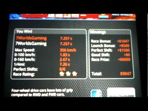 Android Market/AppStore Drag Racing How To Tune A Level 10 Bugatti Veyron 16.4 SS 7.257s 1/4mile!