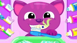 Cute & Tiny Morning Routine - Kids Learn Brush Teeth Wash Hands Fun Games For Kids By TutoPLAYS