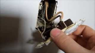 HOW TO EASILY REPLACE ELECTRICAL PLUG SOCKET OUTLET COPPER OR ALUMINUM WIRING