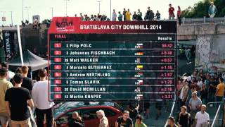 Official race movie Bratislava City Downhill 2014 CDWT round 3