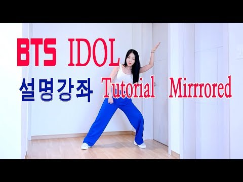 BTS 아이돌 안무 거울모드 설명강좌  IDOL Tutorial Mirrrored WAVEYA
